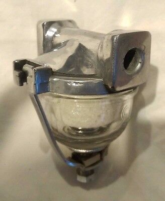 Vintage Carter Polished Aluminum & glass fuel filter   #F30-76. Street hot rod