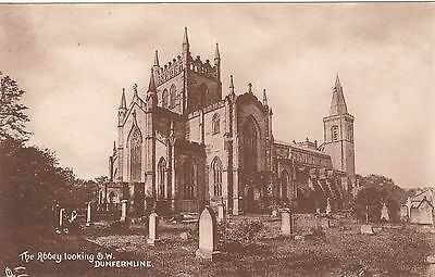 The Abbey Looking South West, DUNFERMLINE, Fife - Tuck