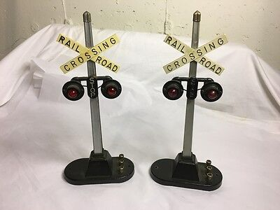 Two Lionel No. 154 Automatic Highway Signals