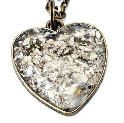 cremation jewellery for ashes memorial 27mm bronze or silver heart pendant