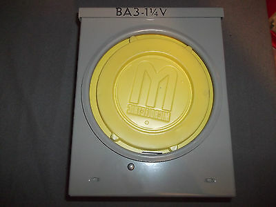 """Microlectric 100A 600V Meter Socket # BA3 Brand New 9""""X8""""X4"""""""