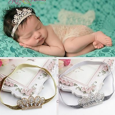 Tiara Tiara Rhinestone Baby Headwear Baby Hair Band Crown Zone Hairband
