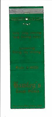 Vintage Matchbook Cover From Hawley's Tough Steaks Famous for Dining Disconfort
