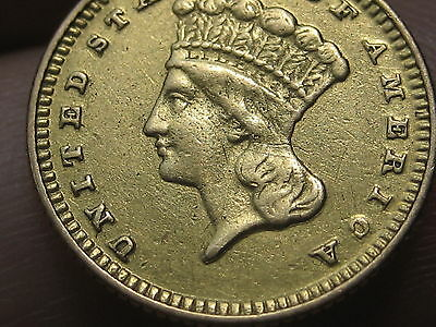 1870 $1 Gold Indian Princess One Dollar Coin- Extremely Rare!