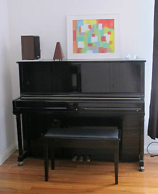 Brash Paling Upright Piano W-47, Black, Professional Size, Great Condition