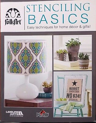 STENCILING BASICS - Craft/Home Decor Softcover Book from Leisure Arts - NEW