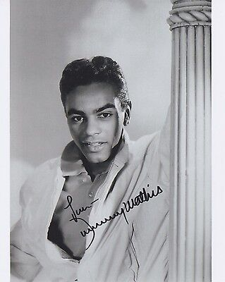 Signed Original B&W Photo of Johnny Mathis of 1950's Music