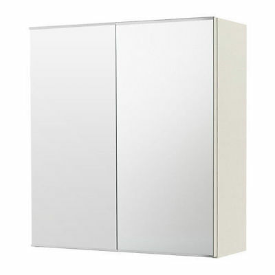 New Bathroom PENCIL EDGE Polyurethane Shaving Mirror Cabinet 450x550