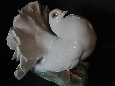 """LARGE Rosenthal Heidenreich Dove Pigeon Figure Statue 1598 Fan Tail Courting 7"""""""