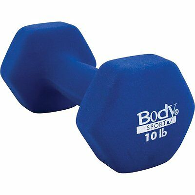 BodySport Neoprene Dumbbell, 10-Pound, Dark Blue