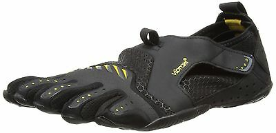 Vibram Men's Signa Water Shoe, Black/Yellow,42 EU/9.5-10 M US