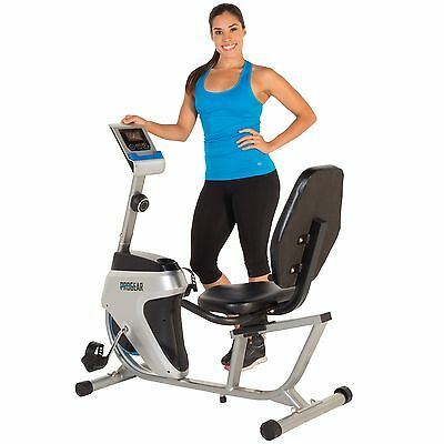 Progear 3151 555LXT Magnetic Tension Recumbent Bike with Workout Goal Setting Co
