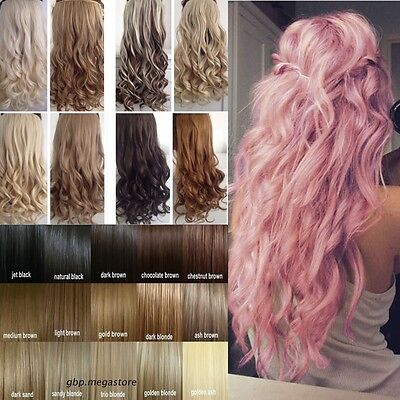 """100% Real As Human Clip In Hair Extensions 17-30"""" Brown Black Blonde 30 Colors"""