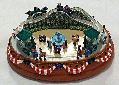LIBERTY FALLS Roller Coaster MUSIC AH999 COLLECTOR'S CLUB MUSIC BOX FIGURINE