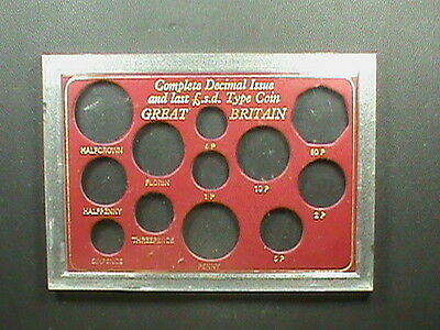 GREAT  BRITAIN   Holder for decimal and pre - decimal coins ,  Pence ,  Shilling