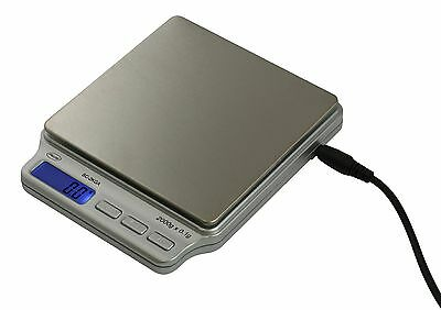 American Weigh Scales SC-2Km-A Digital Personal Nutrition Scale with AC Adapter