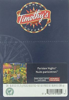 Timothy's World Coffee Parisian Nights Extra Bold Coffee K-Cups for Keurig Brewe