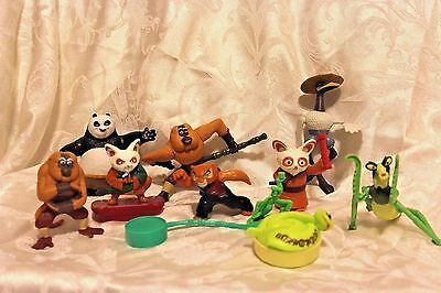 DreamWorks Kung Fu Panda Lot of Toys McDonalds Issue 2008