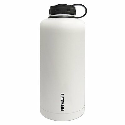 FIFTY/FIFTY V64001WH0 Vacuum-Insulated Barrel Growler, 64-Ounce, Winter White