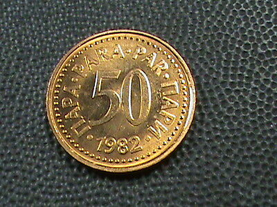 YUGOSLAVIA    50  Para    1982    BRILLIANT  UNCIRCULATED