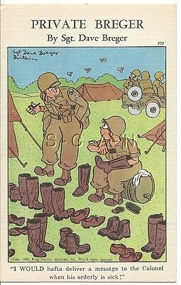 WWII Org 1940s PC- Private Breger- Deliver Message- Colonel- Shine Boots- Comic