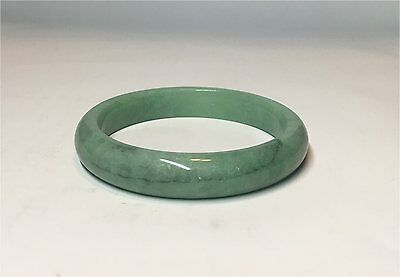 Vintage Green Jadeite Jade Bangle Bracelet 56/ 70