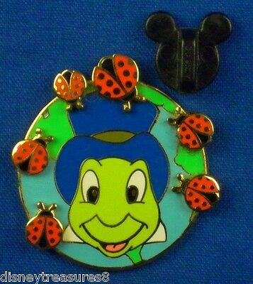 Disney Pin Jiminy Cricket with Ladybugs April DLR Pin of the Month LE 400 # 4740
