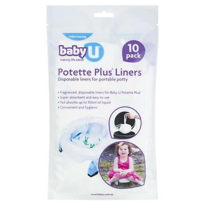 Baby U Potette Plus Liners 10 Pack Online Only