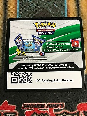 Pokemon 20 XY Roaring Skies Online TCG Booster Pack Codes Emailed Fast!