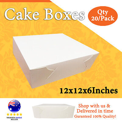CAKE BOXES 12x12x6 Inches Qty 20/Pack Brand New - Wedding Cake Box - Cupcake Box