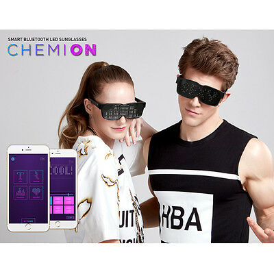 CHEMION 2 Smart Bluetooth LED Couple Sunglasses Club Party Sports Glasses
