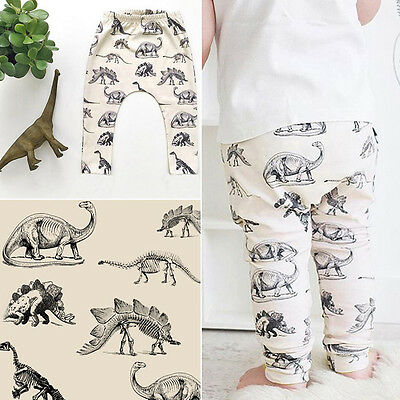 Newborn Kids Baby Boys Girls Dinossur Harem PP Leggings Pants Trousers New