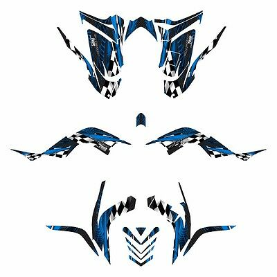 2006 - 2012 Raptor 700R graphics full coverage decal kit #3500 Blue