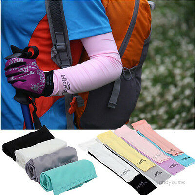 1pair Cooling Athletic Sport Skins Arm Sleeves Sun Protective UV Cover Golf FS