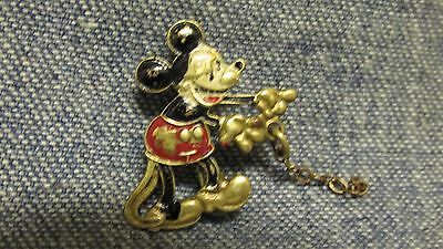 Small Rare 1950's Walt Disney Bronze Minnie Mouse Tie Tack Pin Charm~Old Vintage