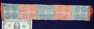 Antique HMONG Fabric hand made woven TRIBAL Hippie Thailand cloth vintage batik
