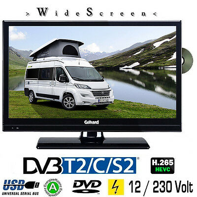 Gelhard GTV2041 LED TV 20 Zoll Wide Screen DVB/S/S2/T2/C, DVD, USB, 230/ 12 Volt