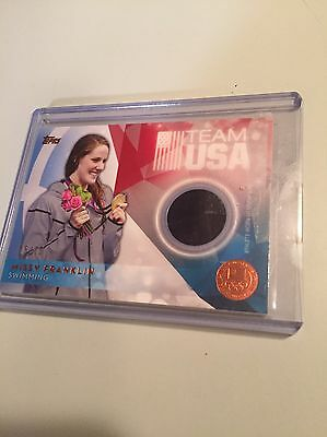 Missy Franklin Team USA 2016 Athlete-Worn Relic Card!! A Must See!!