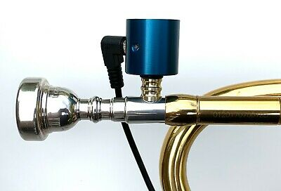 Trumpet PiezoBarrel P6 Pickup microphone, Bach style 5C Mouthpiece and 4m Cable