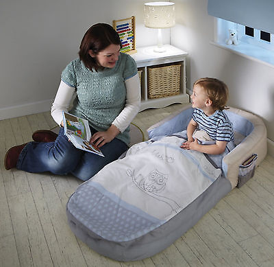 Baby Travel Air Bed Toddler Portable Cot Sleeping Bag Kids Camping Home Bed Boy