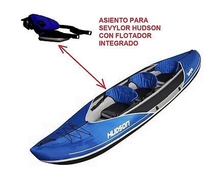 sillon asiento con flotador para kayak sevylor hudson , seat with float inside