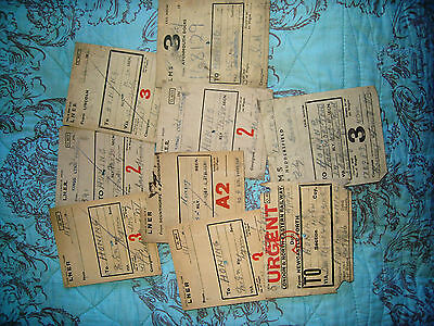 Railway Carriage Labels To Honing Norfolk Ww2 Periodx9