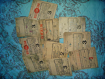 Railway Carriage Labels To Honing Norfolk Ww2 Periodx10