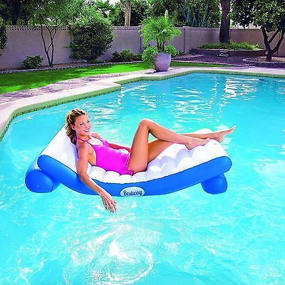 New Bestway Premium Range Luxury Inflatable Pool Lounger Float Sofa Bed Chair
