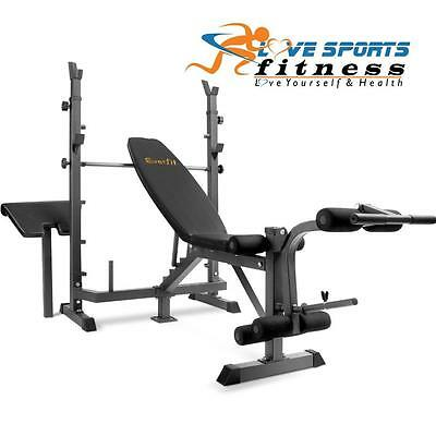 Flat Gym Bench Press Adjustable Home Fitness Exercise Multi Station Weight Ab