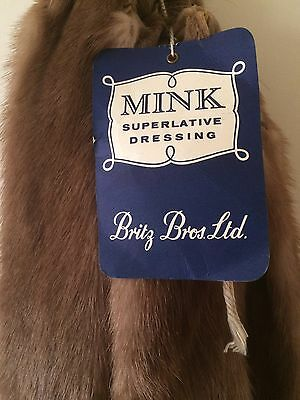 Vintage 40s 50s American Mink Pelt Coats Collars Hats Trims Crafting Genuine