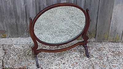 Vintage Mahogany Swing Mirror dressing table