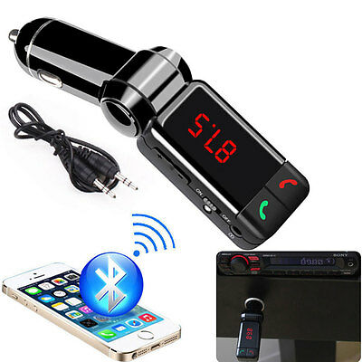 Wireless FM Transmitter Bluetooth Car Kit MP3 USB LCD Handsfree For Mobile Phone