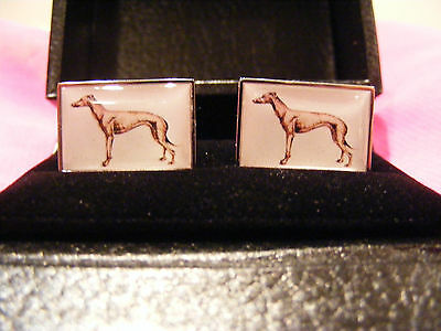 Greyhoung Wippet cufflinks - Racing do gift set for  Dad Son Groom - Gift boxed