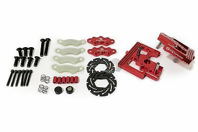 FID Alloy Spitting Center Diff Mounts & Adjustable Calipers Red for Losi DBXL